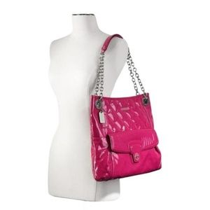 Coach Poppy Liquid Gloss Quilted Slim Pink Bag